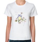 Классическая футболка Тоторо и сакура